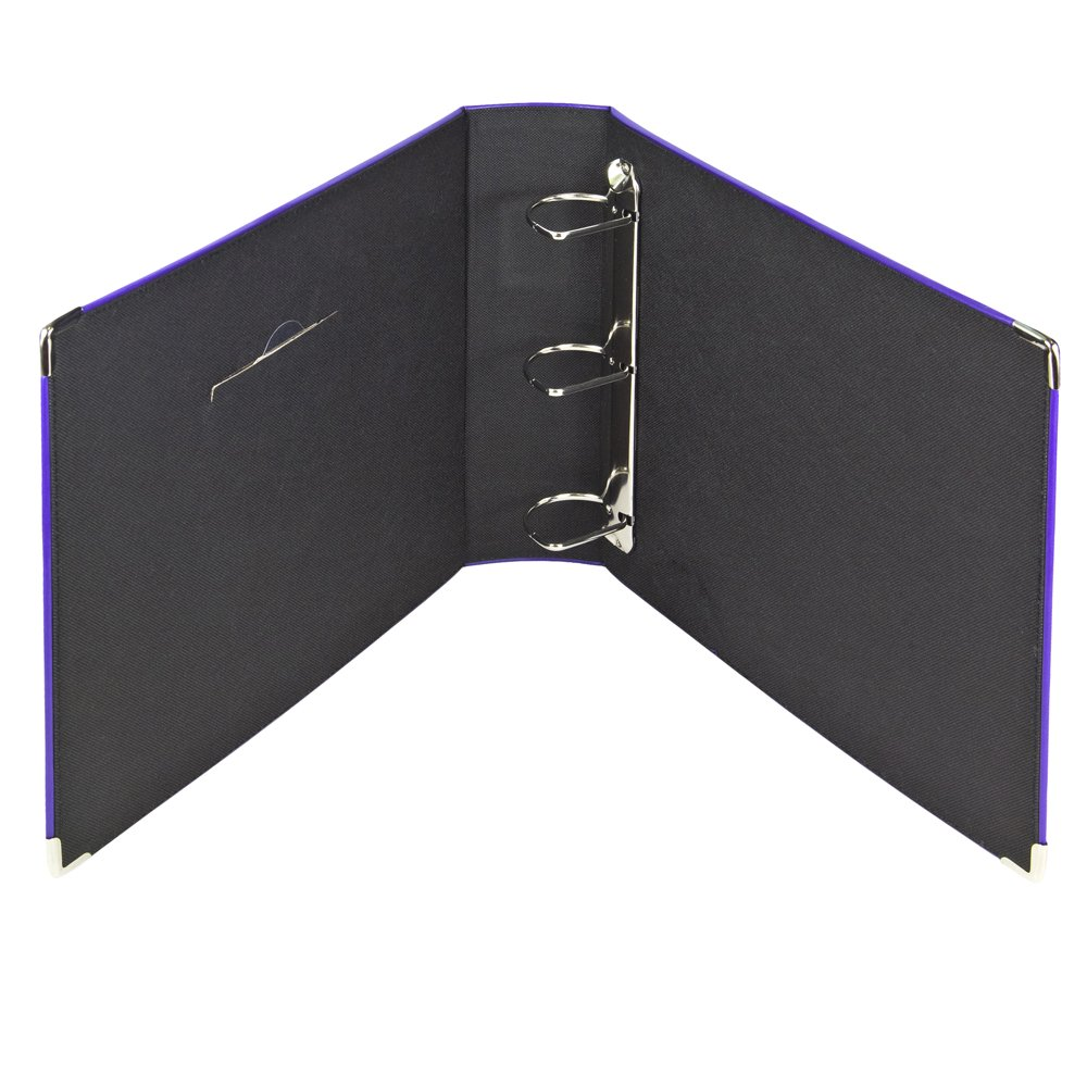 3 ring photo binder album with sewn leatherette frame acid free 12