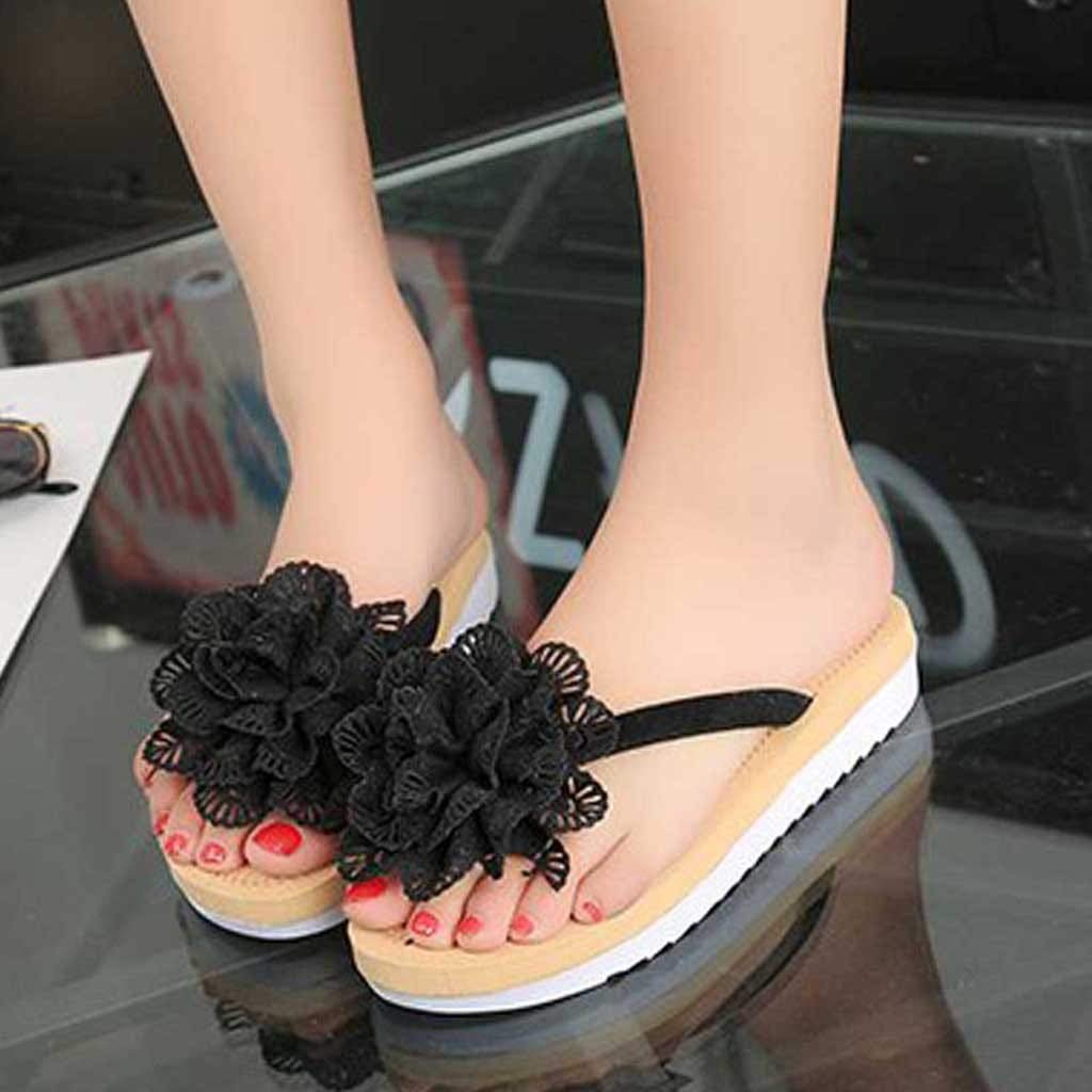 4d9f9ad9d {Minikoad} Women Flat Sandals,Lady Flip Flops Slipper Beach Flower Sandals  Handbags & Wallets