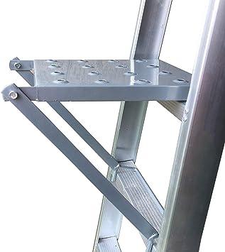Plataforma para Escalera, Plataforma de Trabajo de Escalera Antideslizante, Herramientas Trabajo Estante para Todas Escaleras Sostiene 180kg: Amazon.es: Bricolaje y herramientas