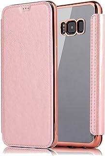 Sycode Flip Custodia per Galaxy S6,Lusso Argento a Libro Back con Fronte in PU Pelle Bling Portafoglio Flip Cover per Samsung Galaxy S6-Argento