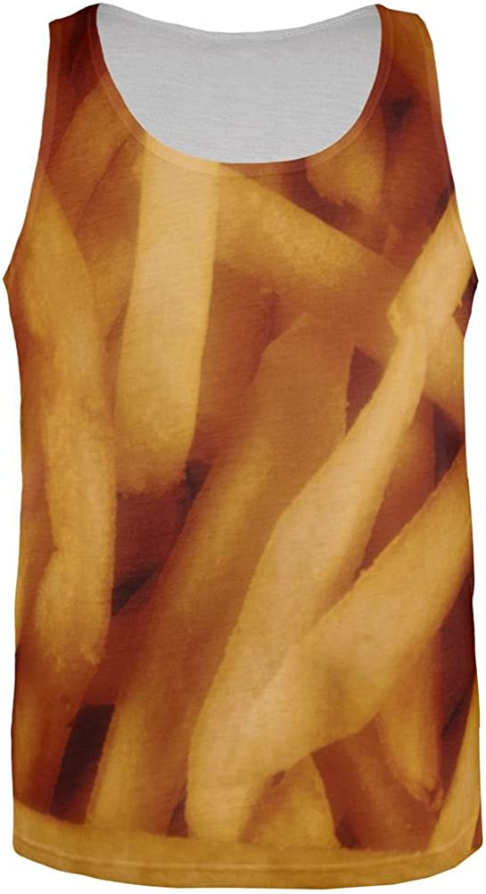 Fast Food Golden French Fries Costume All Over Mens Tank Top