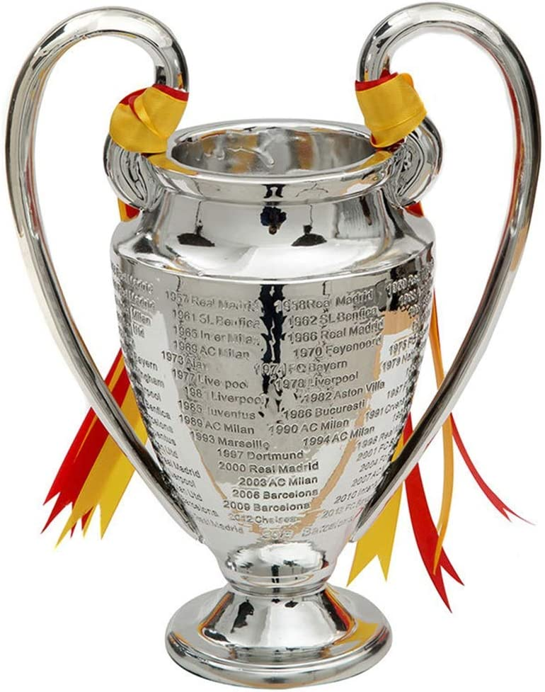 amazon com ygo champions league trophy uefa trophies soccer replica award 2019 liverpool large big ear awards cup silver plating football medal fans souvenir for collections home decoration 30 sports outdoors ygo champions league trophy uefa trophies soccer replica award 2019 liverpool large big ear awards cup silver plating football medal fans souvenir for