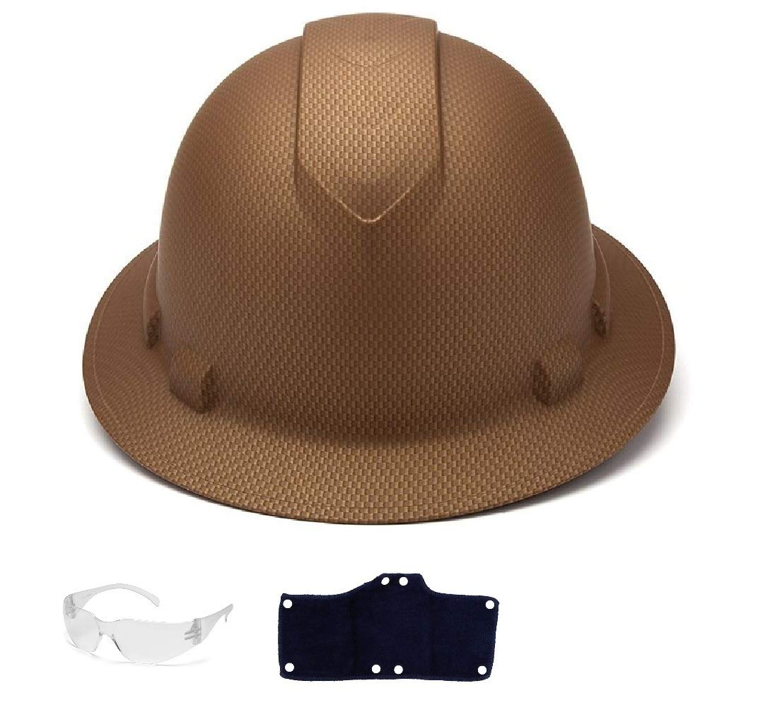 Pyramex Full Brim Hard Hat with Standard Ratchet Suspension Color Copper Matte