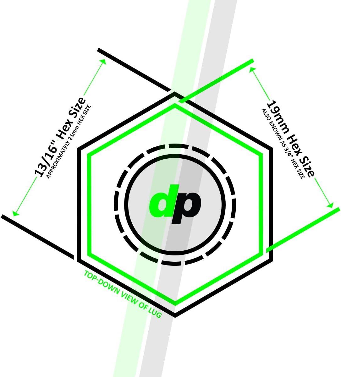 DPAccessories LCS3L5HC-CH04LK4 Chrome Wheel Locks 12x1.25 Closed End Spline Tuner Locking Lug Nuts Dual Hex Wheel Lock Set