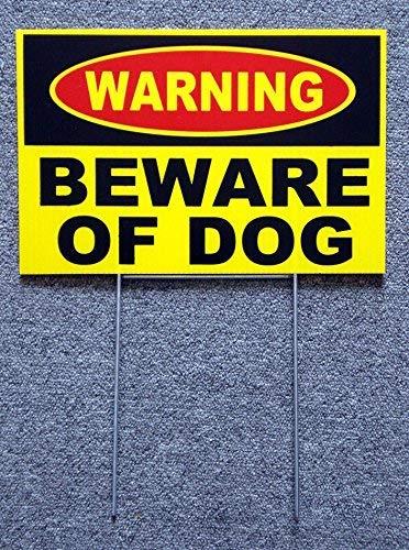 - 1 Set Heart-stirring Unique Warning Beware Dog Yard Sign Surveillance Security Lawn Burglar Protect Poster Outdoor Neighbor Holder Door Hanger Fence Property Stakes Decor Size 8