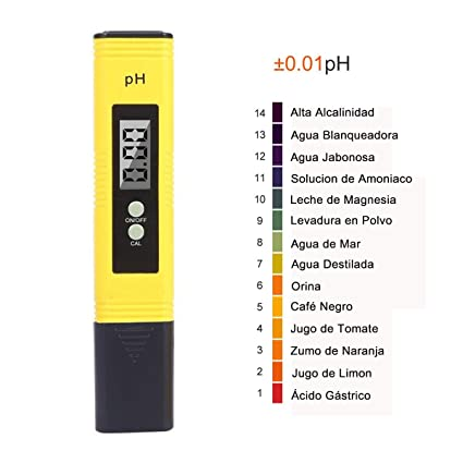 PH Tester Meter Digital, GOCHANGE Prueba Digital Multi Function PH/Prueba PH portátil/