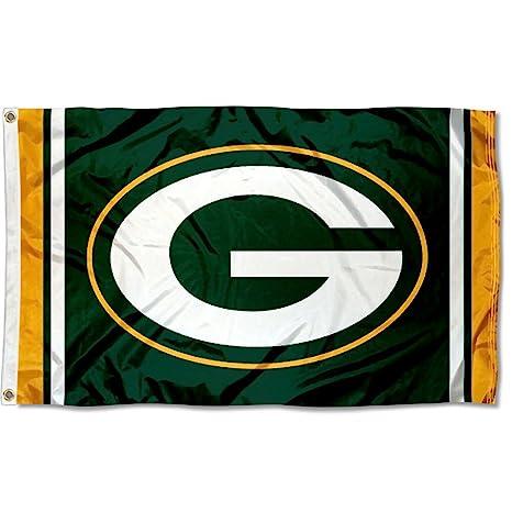 amazon com green bay packers large nfl 3x5 flag sports fan