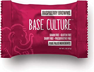 product image for Paleo Brownie Raspberry Cocoa | All Natural 100% Paleo, Gluten, Grain, Dairy, and Soy Free & No Preservatives Crafted by Base Culture (6g Protein per Serving, 20 Count)