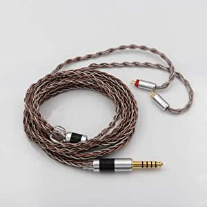 TRIPOWIN C8 8-Core Silver Copper Foil Braided Earphone Upgrade Cable, Tinsel Silver Copper Wire for KZ ZS10 PRO AS10 ZS10 ZS6 ES4 ZST ZSR ED16 TRN V80 C10(4.4mm Plug, 2 pin 0.78mm)