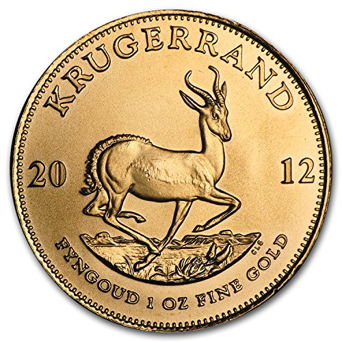 2012 ZA South Africa 1 oz Gold Krugerrand 1 OZ Brilliant Uncirculated ()