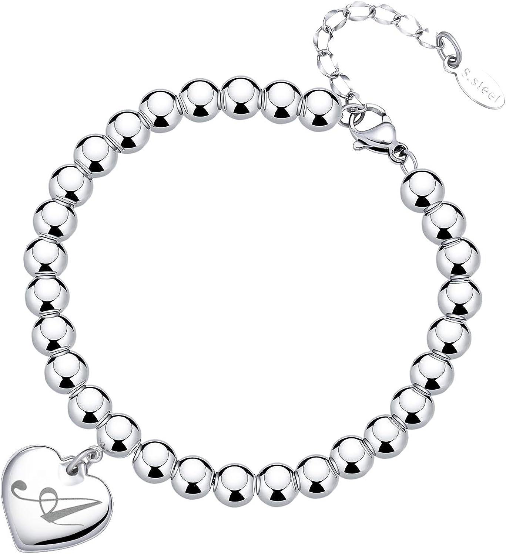 Letter V Charm Bracelet V Leather Bracelet with Sterling Silver V Letter Heart Charm Silver Tiny Stamped V Initial Heart Charm Bracelet