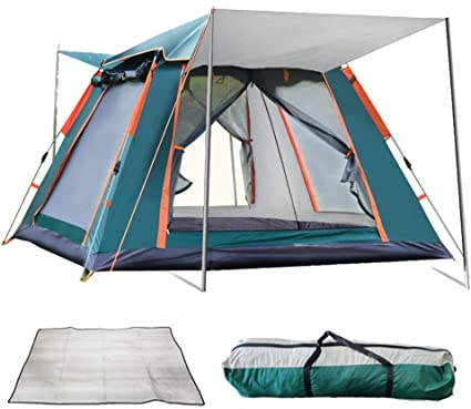 Reavee Instant Pop Up Family Camping Tent For 3 Person Automatic Portable Tent Waterproof Cabin Tent With Rainfly And Carry Bag For Camping Hiking Mountaineering Sports Outdoors