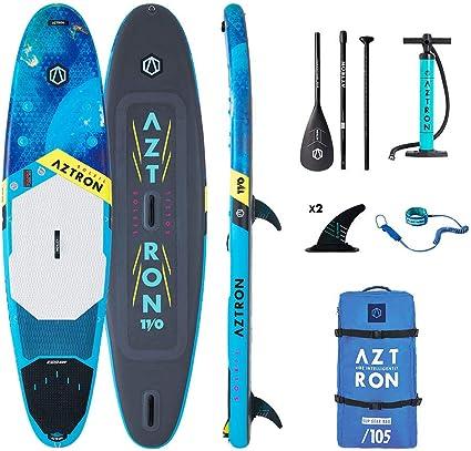 Aztron Sun All Round, Sup Hinchable/Windsurf Unisex Adulto, Azul/Negro, 335X81X15