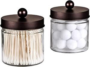 Sweepstakes: Bathroom Vanity Glass Storage Organizer Holder Canister...