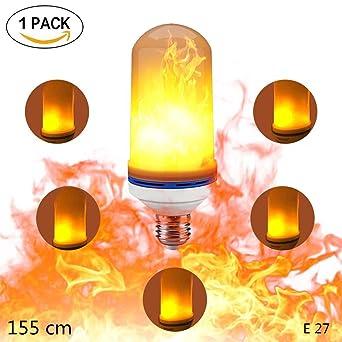 Led Flamme Lampen ,KACOOL Flacklichter Glühbirne Led Flamme Effekt Feuer  Lichtmittel Für Weihnachten,Garten
