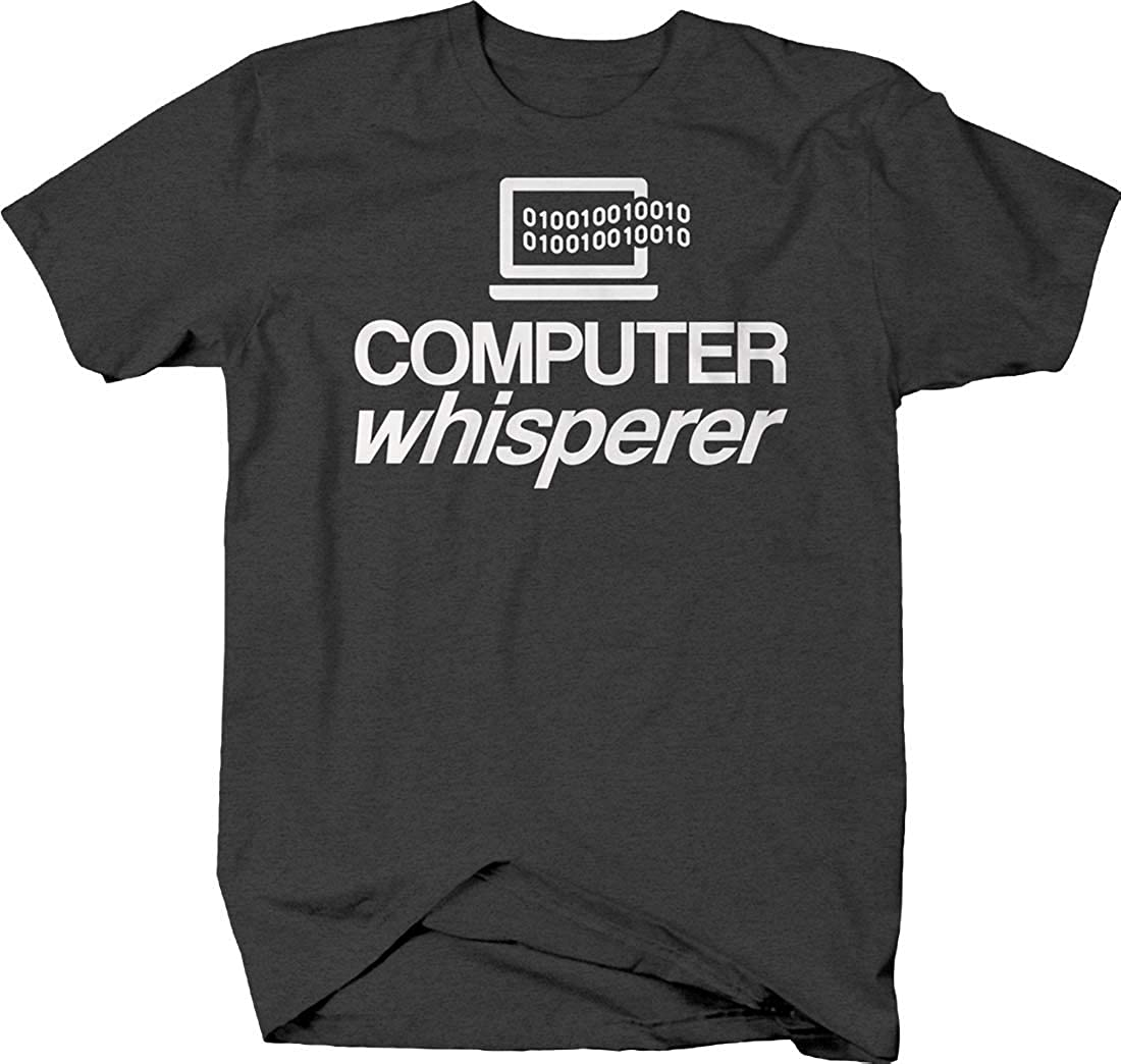 Computer Whisperer Coding Funny Technology Zeros And Ones Nerd Tshirt