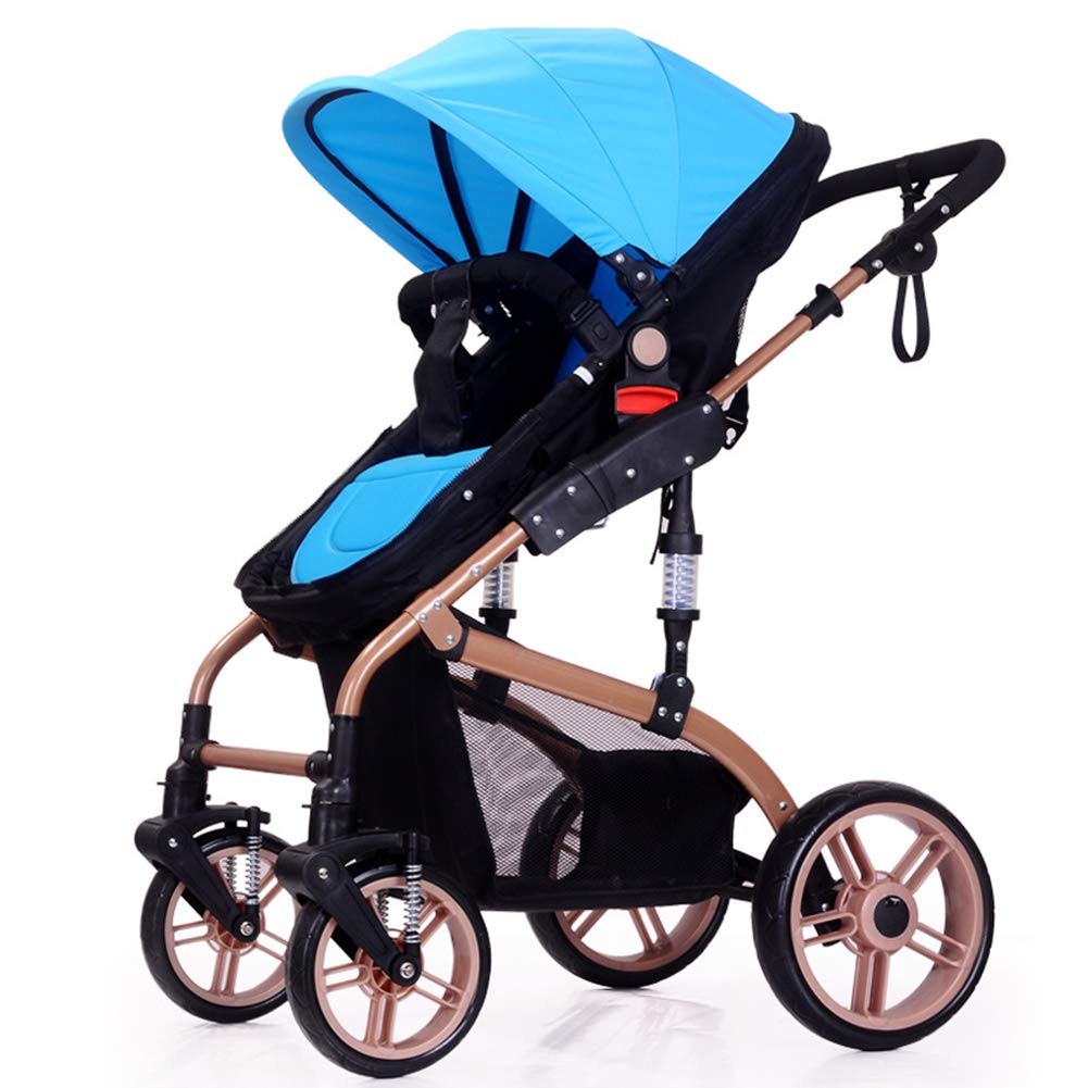 Baby Pram, High Landscape Baby Stroller can sit and Lie Down Two-Way Toddler Pushchair for Babies 0-3 Years Old