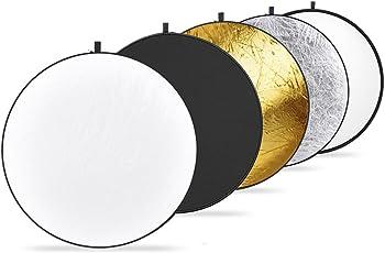Neewer Kit de 5 en 1 Reflector Redondo Plegable Transparente con Funda para Fotografía del Estudio Iluminación Retrato Producto YouTube Shooting