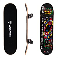 "WIN.MAX Completo Skateboard para Principiantes 31""x8"" 7 Capas Monopatín de Madera de Arce con rodamientos ABEC-7 Tabla…"