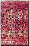 Rivet Vibrant Medallion Rug, 5′ x 8′, Pink For Sale