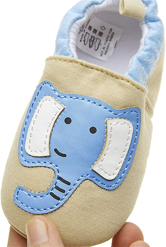 0-24 Months TIMATEGO Toddler Baby Boys Girls Shoes Non Skid Slipper Sneaker Moccasins Infant First Walker House Walking Crib Shoes