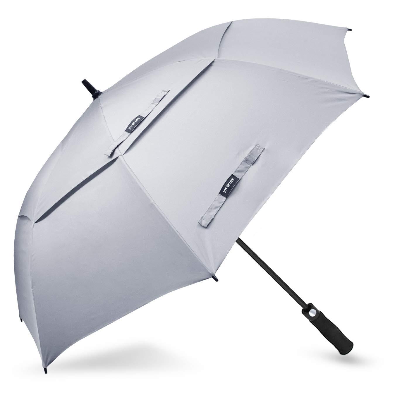 ZOMAKE Golf Umbrella Windproof Large 68 inch Double Canopy Automatic Open Umbrella for Men - Vented Sun Umbrella - Stick Umbrellas