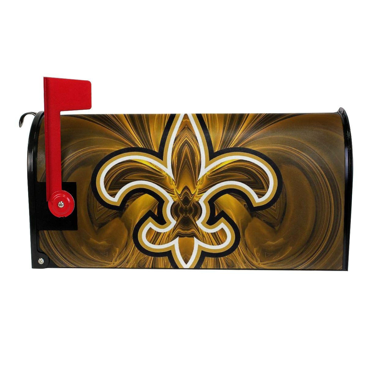 DLZXHomer Mailbox Cover New Orleans Saints Primary Letter Post Box Cover Wrap Magnetic Mailbox Wraps Standard Size Decoration Welcome Home Garden Outdoor (21 X 18 in, 25.5 X 21 in) W X L