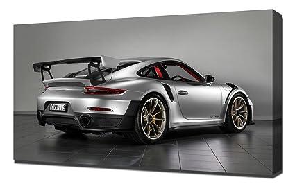 Lilarama USA 2018 Porsche 911 Gt2 Rs 4 - Canvas Art Print - Wall Art -