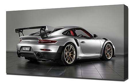 Amazon.com: 2018 Porsche 911 GT2 RS 4 – Canvas Art Print ...