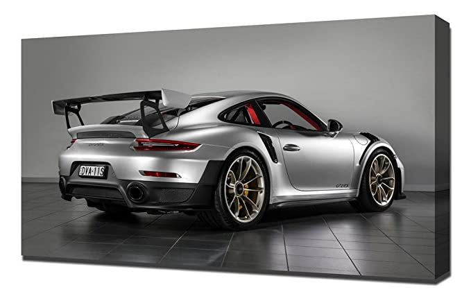 Amazon.com: Lilarama USA 2018 Porsche 911 Gt2 Rs 4 - Canvas Art Print - Wall Art - Canvas Wrap: Posters & Prints