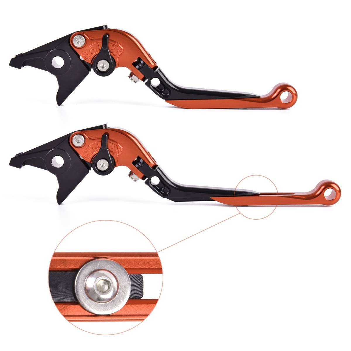 CBR954RR 2002-2003 Red Black Red Auzkong Folding Extendable Adjustable CNC Brake Clutch Levers for Honda CBR600RR 2003-2006