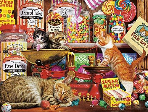 Cowboy Nap Mat - Buffalo Games - Cats Collection - Sweet Shop Kittens - 750 Piece Jigsaw Puzzle