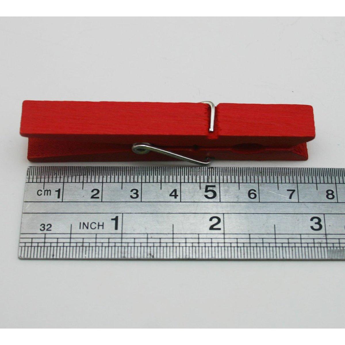 Rouge rosenice 2.9/pouces Pinces /à linge en bois Craft Clips/ /40pcs