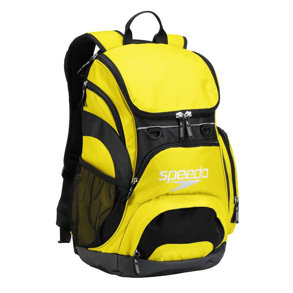 Speedo Printed Teamster 35L Backpack, Blazing Yellow/Black, 1SZ