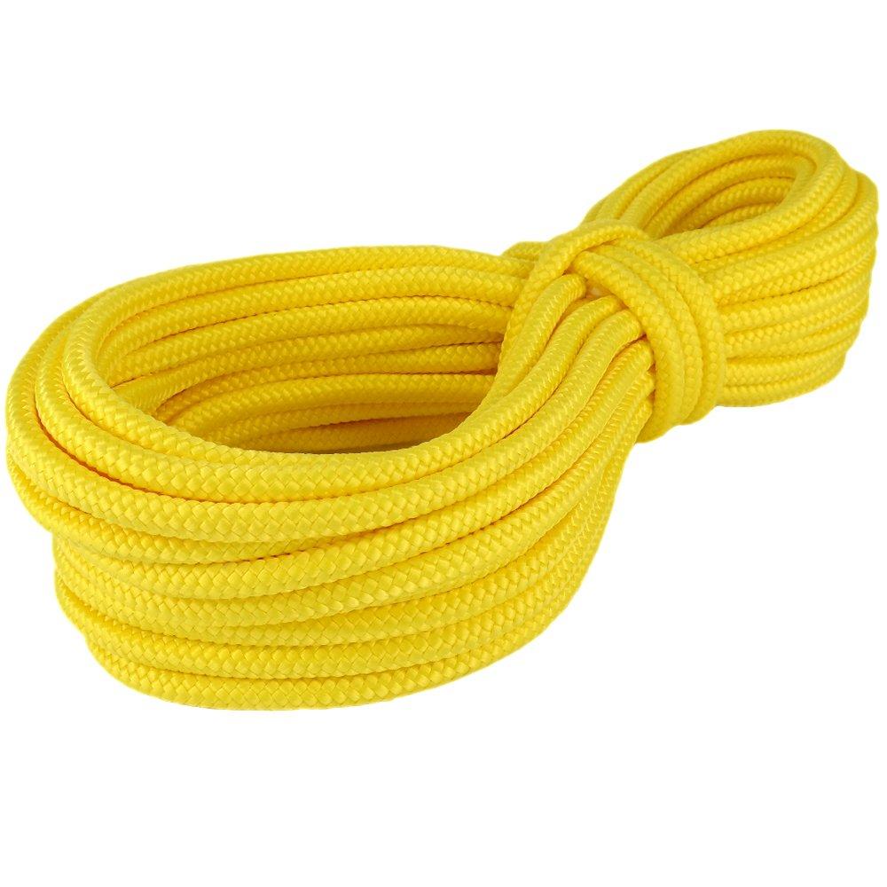PP Seil Polypropylenseil SH 18mm 50m Farbe Gelb (1132) Geflochten