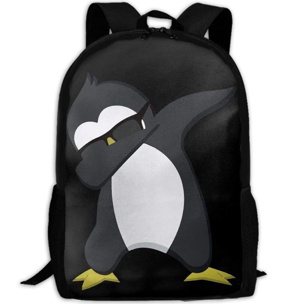 malsjk8 Funny DabbingペンギンスクールBookbagsバッグリュックサックのガールズ旅行バックパックキャンバスバックパックショルダーBookbags   B07G2SXN7X