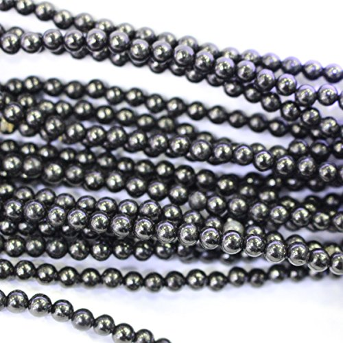 Jet Beads Genuine - Natural Genuine Black Jet 4mm Round Gemstone Jewelry Making Loose Beads