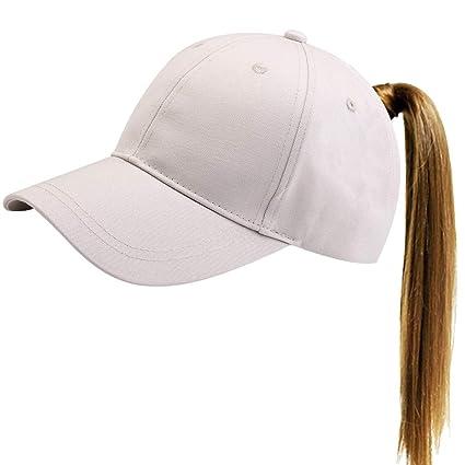 2bba4a6d40b FURTALK Womens Messy High Bun Mesh Baseball Cap Ponytail Hat Adjustable  Cotton Trucker Baseball Cap Dad