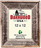 BarnwoodUSA 12×12 Artisan Picture Frame – 100% Reclaimed Wood, Weathered Gray Review