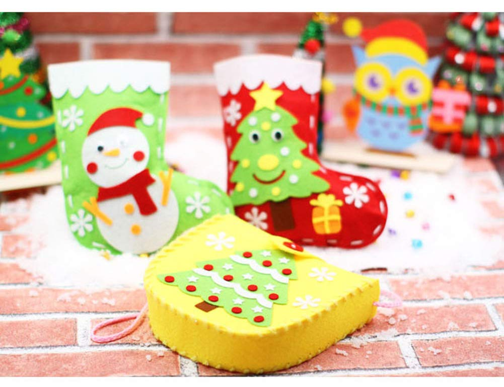 Dsaren Paquete de 4 Kits de Costura para Niños Actividades Creativas Bricolaje Bolsa de Manualidades, 4 Patrones: Amazon.es: Juguetes y juegos