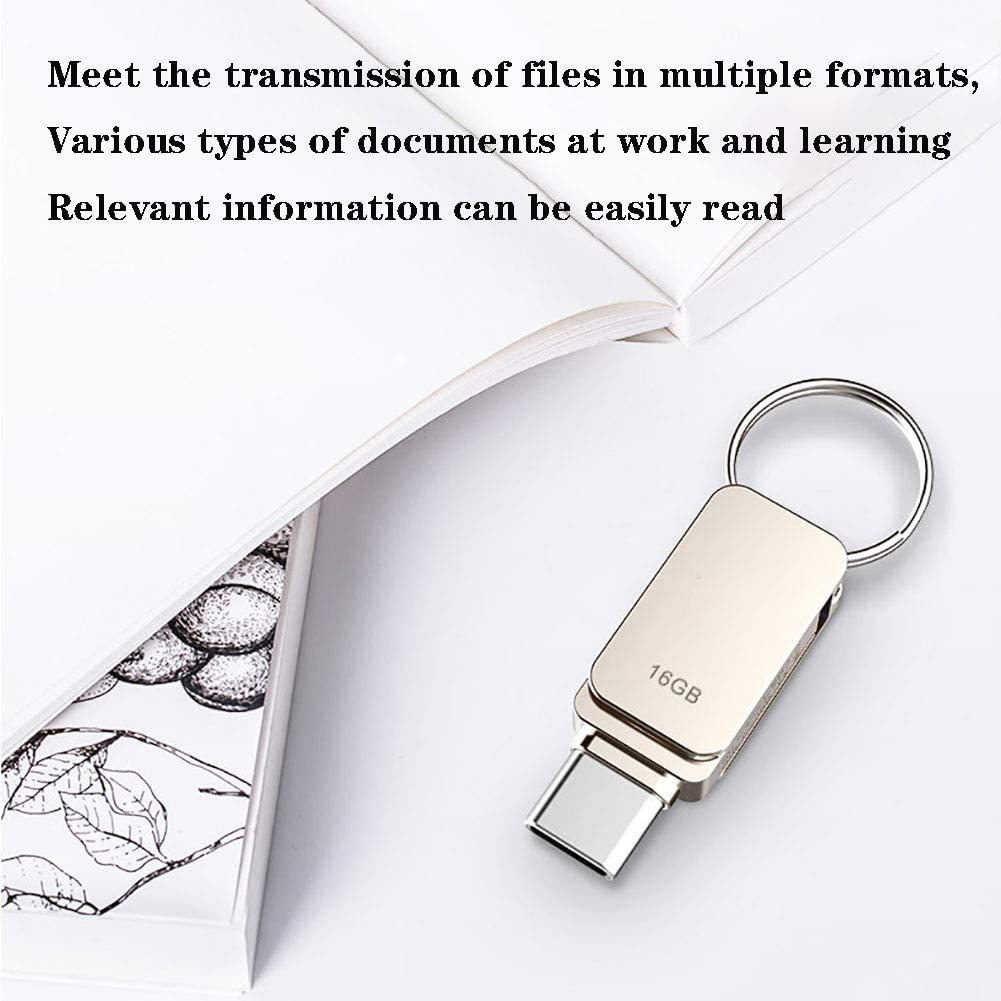 Aceyyk Flash Drive for Phone,USB3.0 Type C High-Speed Interface Compatible Windows 98//Me//2000//XP//Vista//7//8//8.1//10 Macintosh OS 9X Or Later Linux Kernel 2.4.Xor Later,128GB