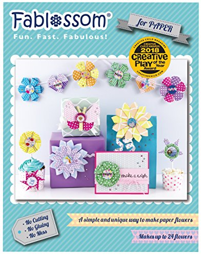 Fablossom Paper Starter Kit - DIY Craft - Paper Crafting Tool to Make Paper Flowers for Scrapbooking, Card Making, & More!
