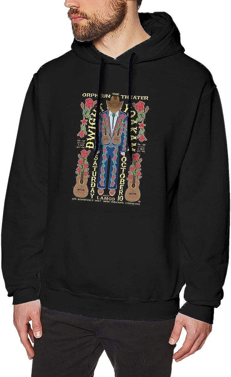Gerneric Luckyoung Dwight Yoakam Comfort Mens Long Sleeve Fleece Pullover Sweatshirt Black