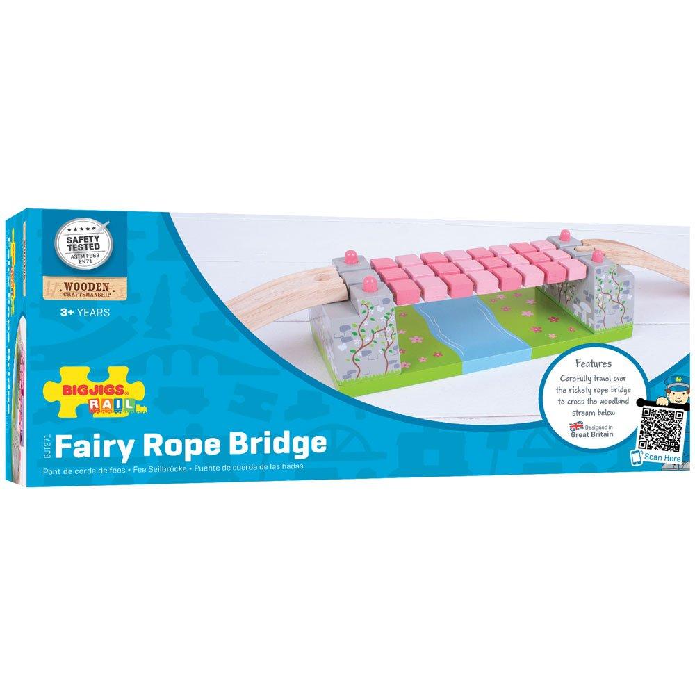 Bigjigs Rail Ponte sospeso Rosa