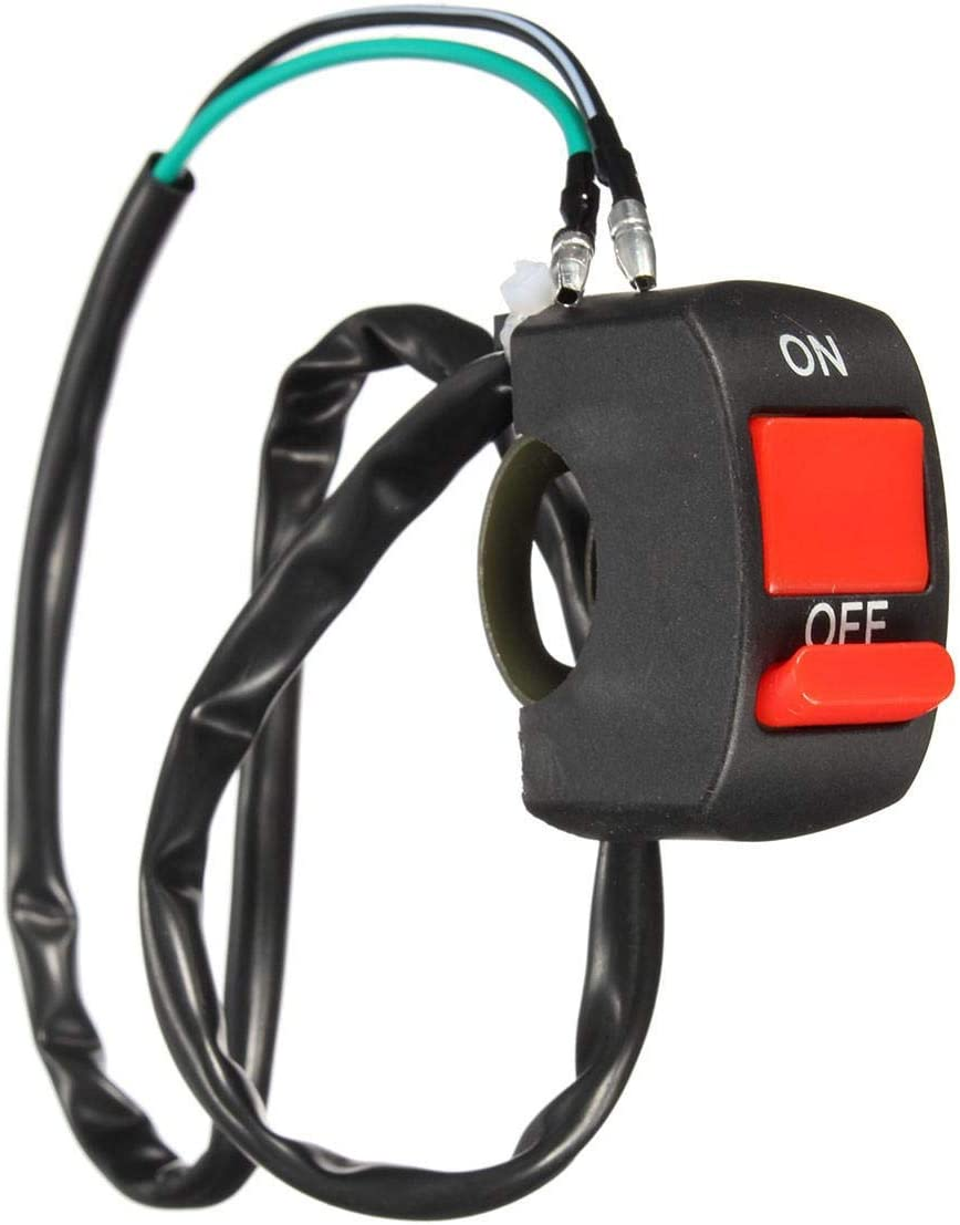 LPLHJD Interruptor de la Motocicleta 7//8 Pulgadas 22mm Interruptor de Motocicleta Dirt Pit Quad Bike On Off Kill Stop Button Light Horn 10 Paquetes