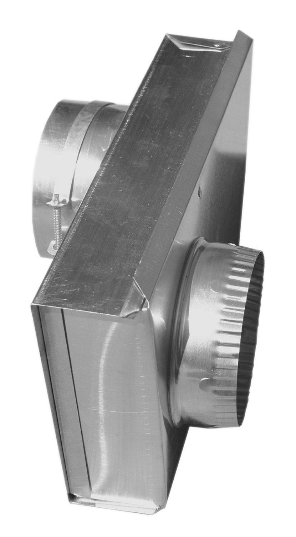 Builder's Best 010149 Adjustable Dryer Vent Periscope, 0'' to 5'', 6'' Length, 2'' ID, Aluminum
