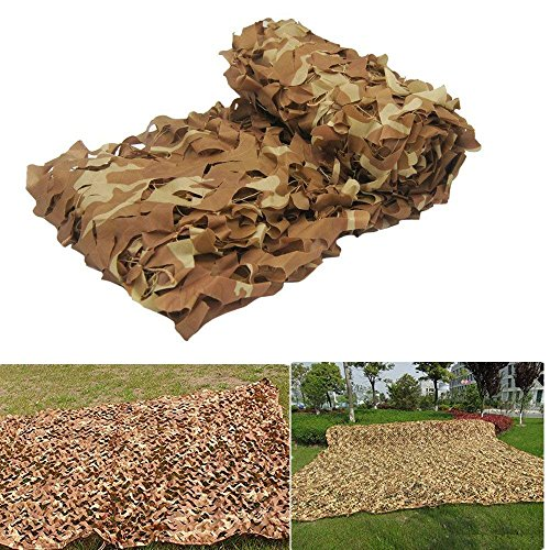 Outdoor Sunscreen Netting, TechCode Light Weight 3x4m Camo Netting Woodland Camouflage Net Oxford Fabric Netting for Camping Military Hunting Shooting Outdoor Hide Nets(9.813ft)