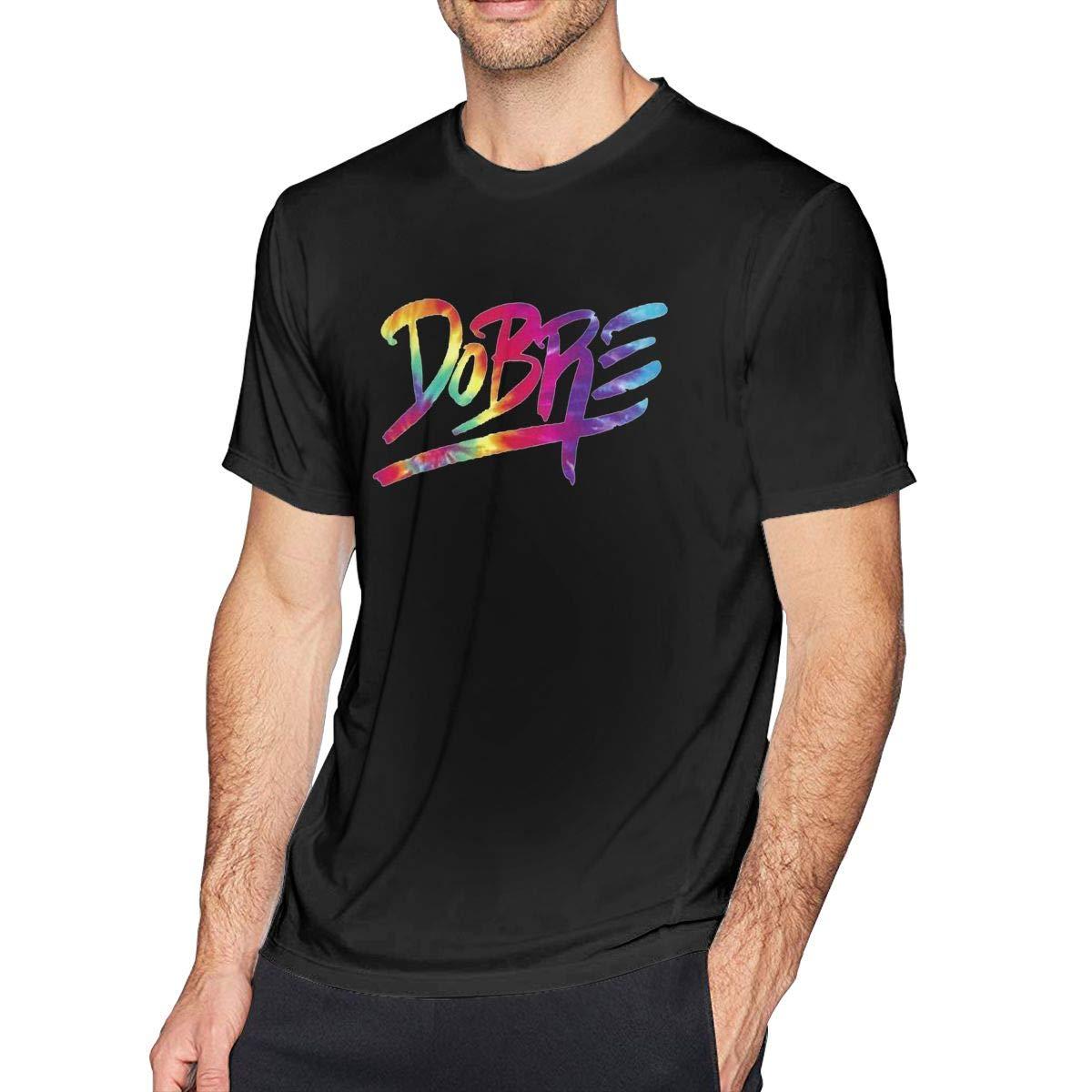 Men's Dobre - Brothers Basic Shirts Summer T Shirt Short Sleeve T-Shirt Round Neck Cotton Sport Tops Black 35