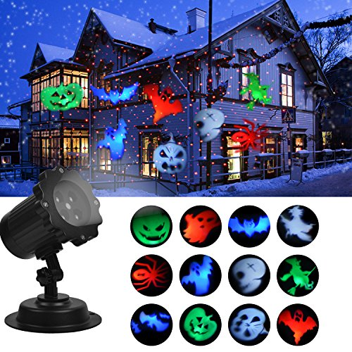 Halooween Decorations (KMASHI Laser Projector Lights Show Led Landscape Super Bright Spotlight Waterproof Rotating Outdoor and Indoor Decoration holiday Lights)