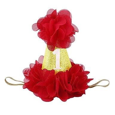 Niña Princesa Primer cumpleaños Sombrero Flor Accesorios ...